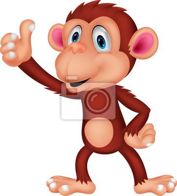 Cute monkey cartoon sitting