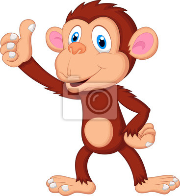 Cute monkey giving thumb up