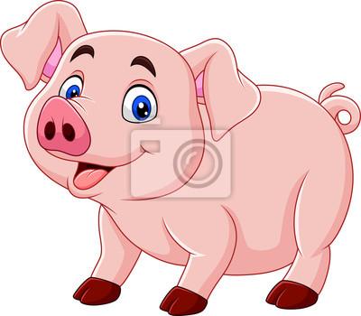 Wall mural Cute pig cartoon