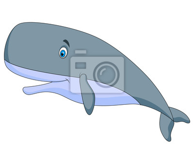 Wall mural Cute sperm whale cartoon