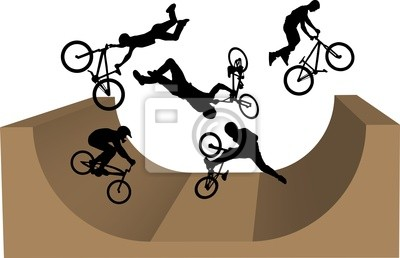 cycling bmx silhouette