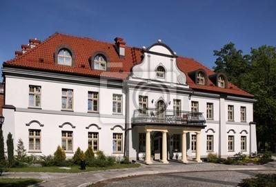Czarny Las palace in Poland. Beautiful architecture.