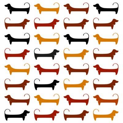 Wall mural dachshund_pattern_template