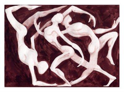 Wall mural dancers dancing