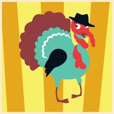 Wall mural dandy Turkey-Cock