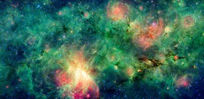 Wall mural Dark cloud M17 SWex and M17 nebula. Retouched and cleaned version of original image from NASA