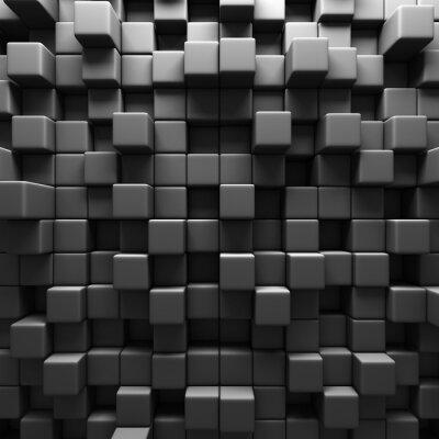 Wall mural Dark Grey Cube Blocks Wall Background