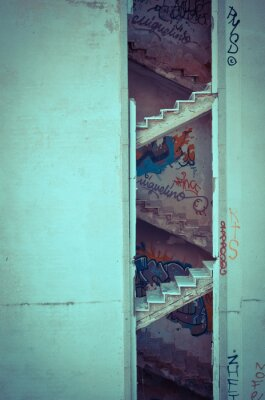 Wall mural Decayed stairs