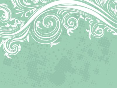 Wall mural Decorative Floral Background