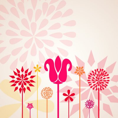 Wall mural Decorative Flowers