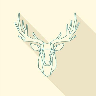 Wall mural deer frame