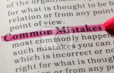 definition of common mistakes