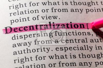 definition of decentralization