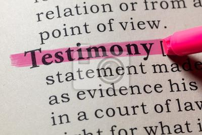 definition of testimony