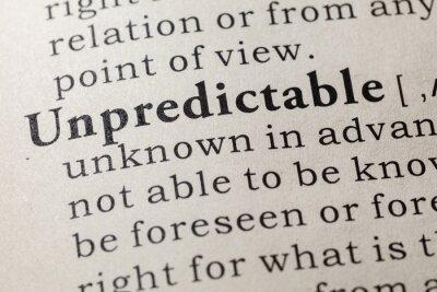 definition of unpredictable