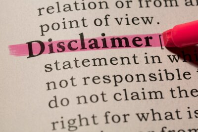 definition of word disclaimer