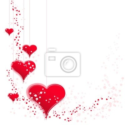 delicate red hearts