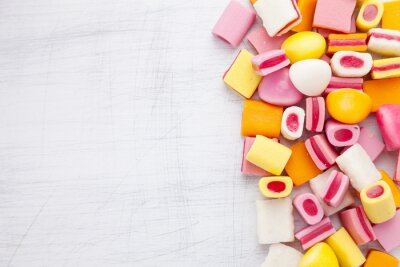Wall mural Delicious sweet candy with copy space