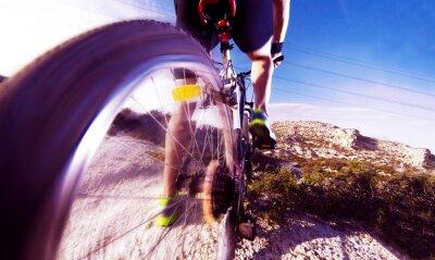 Wall mural Deportes. Bicicleta de montaña y hombre.Deporte en exterior
