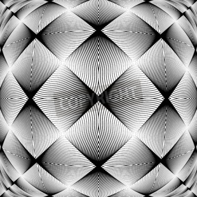 Wall mural Design monochrome decorative background. Abstract trellised texture. Vector-art illustration. No gradient