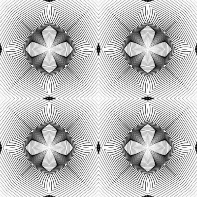 Wall mural Design seamless monochrome geometric pattern