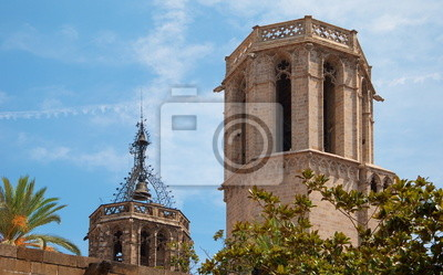 Detail of  Cathedral in Gothic Quarter of Barcelona