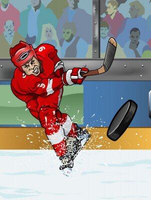 Wall mural Detroit ice hockey player.