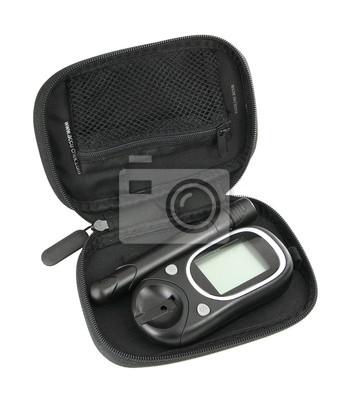 Diabetic Glucometer Blood sugar or glucose level testing kit iso