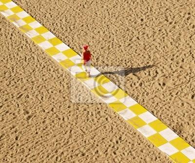 diagonale et sable fin