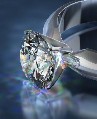 Wall mural diamond ring
