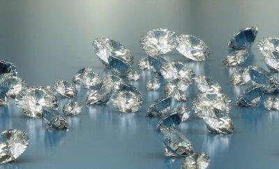 Wall mural diamonds