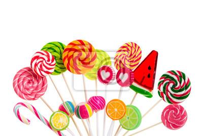 Different colorful lollipops