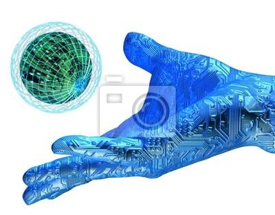 digital hand holding technology
