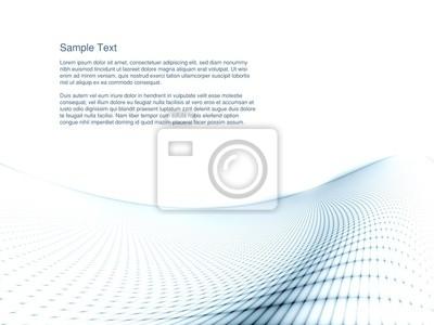 Digital Landscape with Geometric Grid