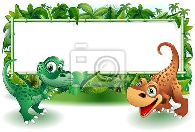 Dinosauri Cuccioli Giungla-Baby Dinosaur Jungle Background
