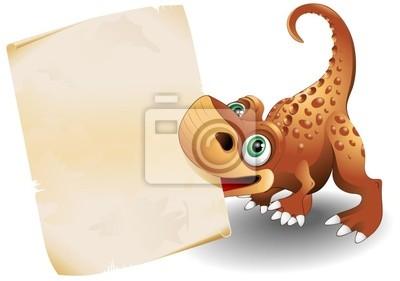 Dinosauro Cucciolo Carta-Baby Dinosaur Paper Background