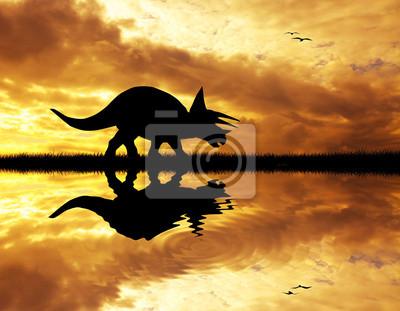 Dinosaurs silhouette