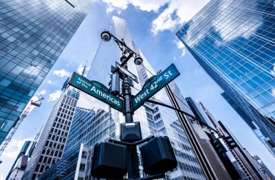 Wall mural Direction signs in New York