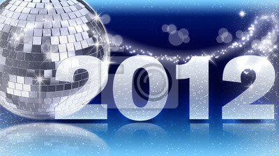 Diskokugel 2012 - Blau