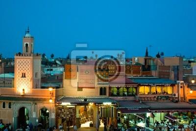 djema el fna night view form the cafe glacier