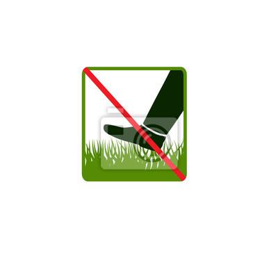 Do not step on grass