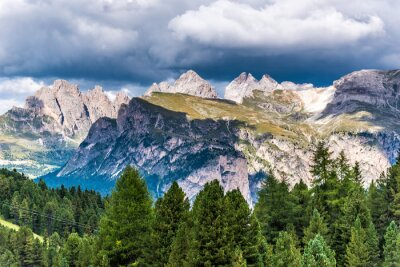 Wall mural Dolomites Italy - Val Gardena -  Passo Sella