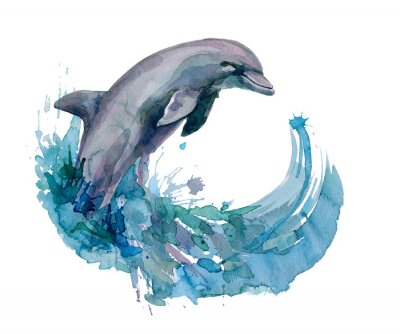 Wall mural dolphin