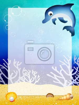 dolphin with frame