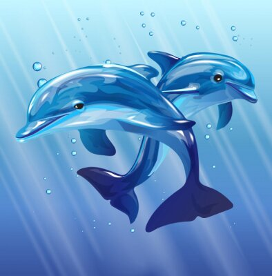 Wall mural dolphins
