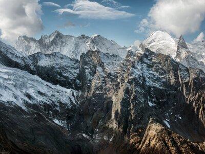 Wall mural Dombai. Scenery of rockies in Caucasus region in Russia