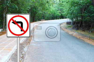 don't turn left sign