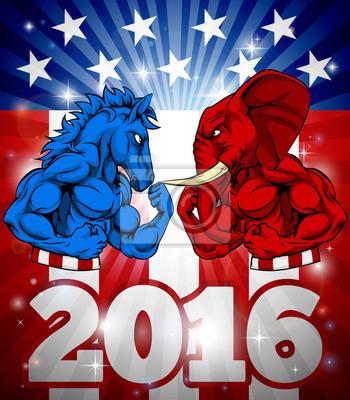 Donkey vs Elephant 2016 Concept