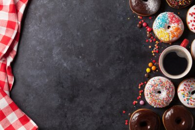 Wall mural Donuts and coffee