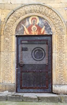 Door and icon above it, Gelati monastery, Georgia